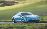 Porsche Taycan 4S 2020 UK first drive review -  hero front