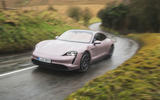 1 Porsche Taycan RWD 2021 UK first drive review hero front