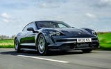 Porsche Taycan Turbo 2020 UK first drive review - hero front