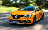 Renault Megane RS 2018 UK first drive hero front