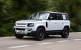 1 Rover Defender PHEV 2021 UK FD hero front