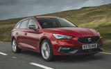 1 Seat Leon estate FR 2021 UK first drive review hero front