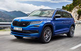 Skoda Kodiaq vRS 2018 first drive review - hero front