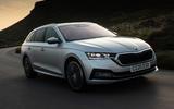 Skoda Octavia estate 2020 UK first drive review - hero front