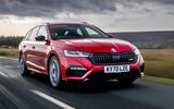 Skoda Octavia vRS Estate 2020 UK first drive review - hero front