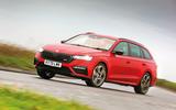 Skoda Octavia vRS iV 2020 UK First drive - hero front