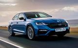 Skoda Octavia vRS TDI 2021 UK first drive review - hero front