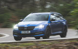 Skoda Superb Estate Sportline 2020 UK first drive review - hero front