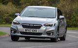 Subaru Impreza 2018 UK review hero front