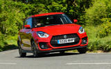 Suzuki Swift Sport hybrid 2020 UK first drive review - hero front