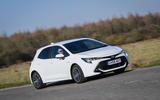 Toyota Corolla hatchback 1.8 hybrid 2019 UK review - hero front