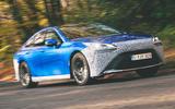 Toyota Mirai 2021 prototype drive - hero front