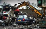 Vauxhall Zafira being crushed