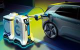 Volkswagen EV charging robots