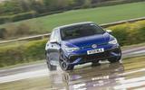 1 Volkswagen Golf R performance pack 2021 UK FD hero front