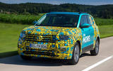Volkswagen T-Cross prototype 2019 first drive review hero front