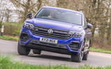 1 Volkswagen Touareg R eHybrid 2021 UK first drive review hero front