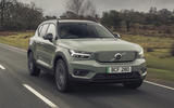 1 Volvo XC40 Recharge P8 2021 UK first drive review hero front