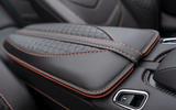 Aston Martin DBS Superleggera Volante 2019 first drive review - armrest