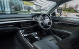 Audi A8 60 TFSIe 2020 UK first drive review - cabin