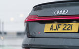 10 Audi E tron S Sportback 2021 UK first drive review rear badge