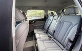 Audi Q7 2019 first drive review - rear seats
