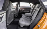 Audi Q8 2018 first drive review rear seats