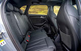 Audi RS3 Sportback 2019 UK first drive review - rear seats