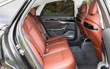 Audi S8 2020 UK first drive review - rear seats