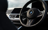 BMW 420i Coupe 2020 UK first drive review - steering wheel