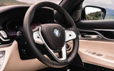 BMW 7 Series 730Ld 2019 UK first drive review - steering wheel