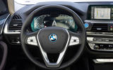 BMW iX3 2020 first drive review - steering wheel