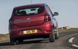 Dacia Sandero 2019 UK first drive review - cornering rear