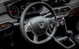 10 Dacia Sandero Stepway 2021 UK first drive review steering wheel