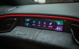 Ferrari Roma 2021 UK first drive review - passenger display