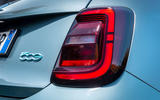 2021 Fiat 500 electric left-hand drive UK review - rear lights