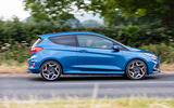 Ford Fiesta ST 2018 UK first drive review on the road side