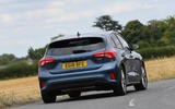 Ford Focus 1.0 Titanium X 2018 UK first drive review cornering rear