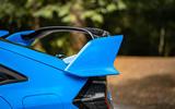 Honda Civic Type R 2020 UK first drive review - rear spoiler