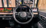 Honda e 2020 UK first drive review - steering wheel