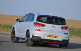 Hyundai i30 N 2018 UK review cornering rear