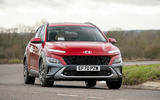 10 Hyundai Kona 1.6 hybrid 2021 UK first drive review on road front