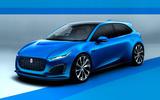 Jaguar hatchback render 2020 - static front