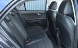 Kia Rio GT Line 2018 UK first drive review rear seats