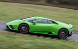 Lamborghini Huracan EVO RWD 2020 UK first drive review - on the road side
