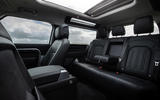 10 Land Rover Defender 90 D250 2021 UK first drive review rear seats