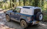 10 Land Rover Defender Hard Top Commercial 90 UK FD offroad rear