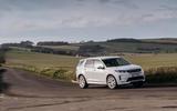 10 Land Rover Discovery P300e 2021 UK FD cornering