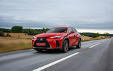 Lexus UX 250h F Sport 2018 first drive review on the road front
