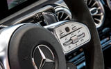 Mercedes-AMG A35 2018 first drive review - wheel infotainment controls